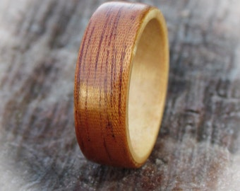 Bentwood Rings From Salvaged Mahogany Ship's Door