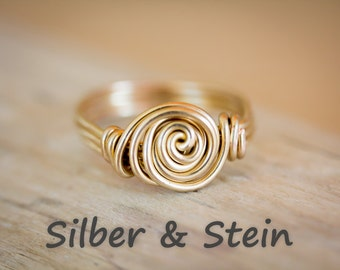 Goldfilled Ring with Spiral
