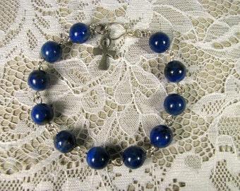 Spiritual Gemstone Bracelet-Lapis Lazuli