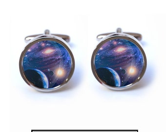 Nebula Cufflinks - Space, Nebula, Planet Cufflinks