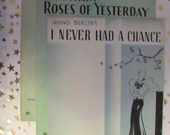 Original Irving Berlin Sheet Music From The 1920's