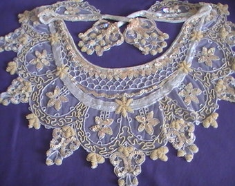 Vintage Sequined and Beaded Collar- Marked Down To One Hundred Dollars!