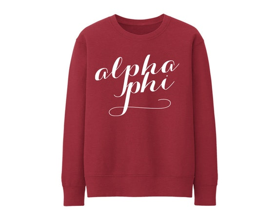 Alpha Phi Script Choose Your Colors Sorority Sweatshirt C6M5l