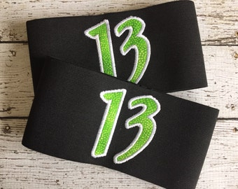 Custom Roller Derby Armbands- 2 numbers