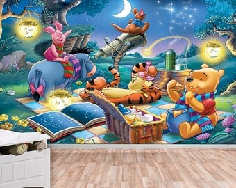 Winnie The Pooh   Stars Wall Mural, Wallpaper, Wall Décor, Nursery And Room Part 49