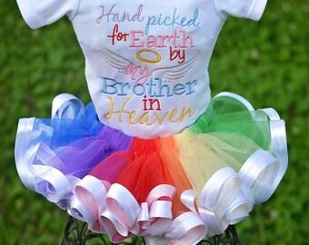 Rainbow Baby Tutu Onesie Set