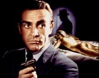 Goldfinger James Bond Movie Poster Banner