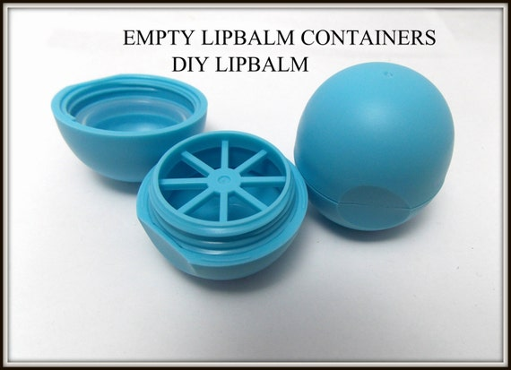 Empty Lip Balm Tubes Containers Oval Container Round