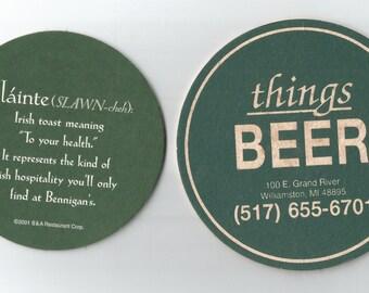 2 beer coasters