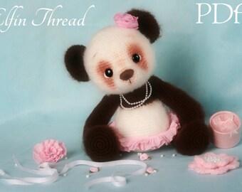 Elfin Thread - Panda Bear Amigurumi PDF Pattern ( Crochet Panda Bear pattern)