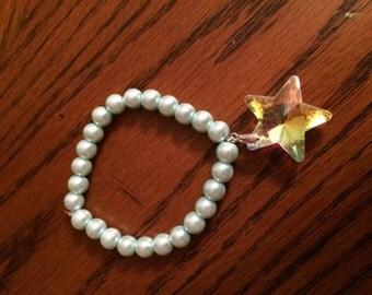 Hime Gyaru Lolita Glass Pearl Prism Star Charm Bracelet