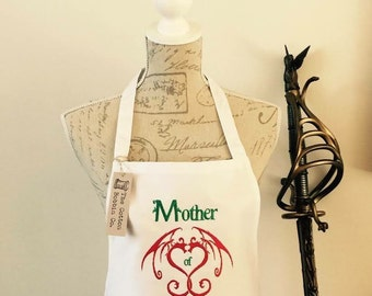 Ladies Apron Mother of dragons game of thrones style apron