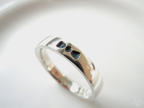 bow tie sterling silver ring cpercent bow tie ring by