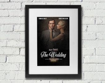 Vintage Retro Custom Designed Wedding/Engagement Movie Film Poster Print