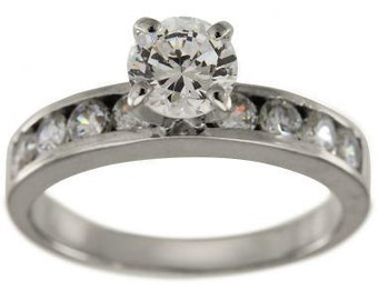 Classic Engagement Setting With Channel Set Rounds