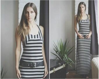 Racerback Dress/Maxi Dress/Bodycon Dress/Striped Dress/Maxi Dresses/Dress/Stripes/Dresses/Long Dress/Long Striped Dress