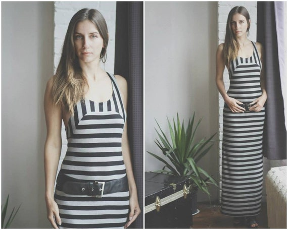 Racerback Dress/Maxi Dress/Bodycon Dress/Striped Dress/Maxi Dresses/Dress/Stripes/Dresses/Long Dress/Long Striped Dress