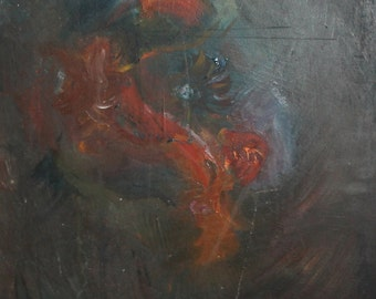 Expressionist figure oil painting