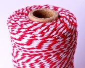 Red Bakers Twine / Red and White Stripe / Christmas Twine / Red String