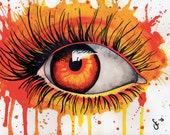 Eye Watercolor Painting *Instant Download!