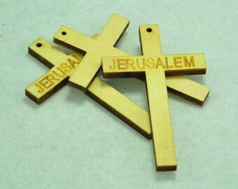 Wood Cross 74x46mm,15pcs Wood Cross Bead,Wood Cross Pendant,Wood Cross Necklace