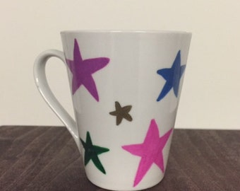 Colorful star mug