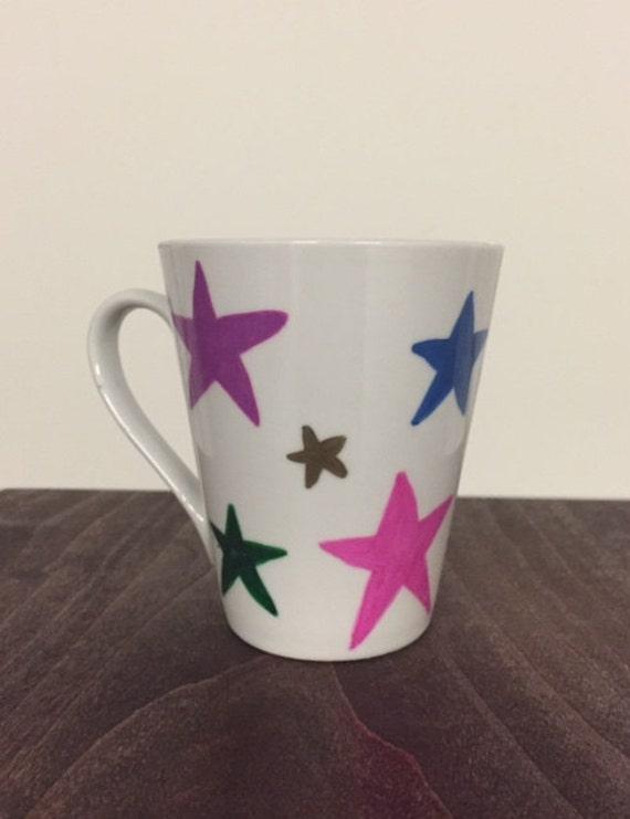 Colorful star mug