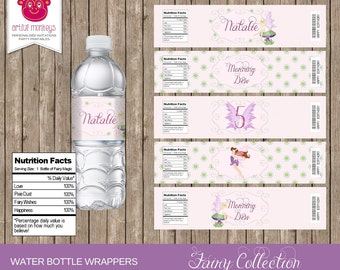 Printable Fairy Party Water Bottle Labels | Personalized