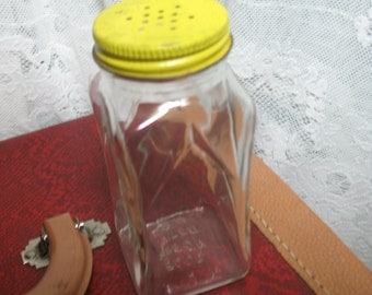 Blue Ribbon glass worked 1950 V-shaped salt shaker kitchen.