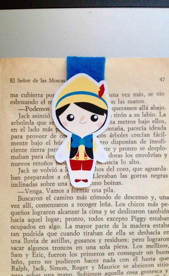 Wooden Boy Magnetic Bookmark
