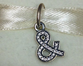 Authentic Pandora Silver Ampersand Charm #791305CZ