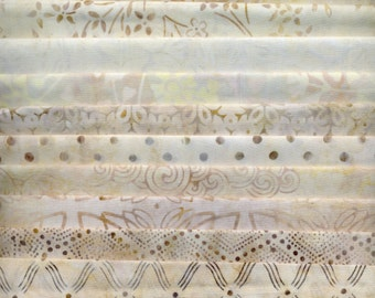 Fat Quarter Pastel Neutral Batik Asst.