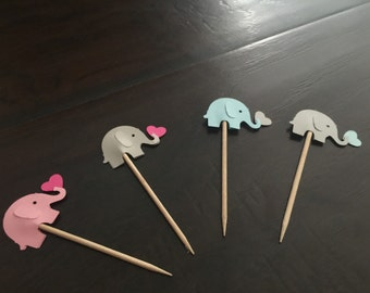 Elephants cupcake toppers