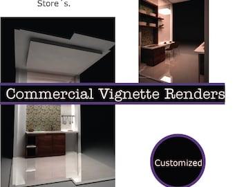 Commercial Vignette Renders