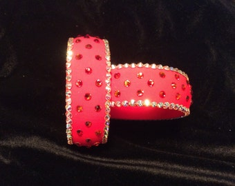 Flame Red Swarovski Bangle Set