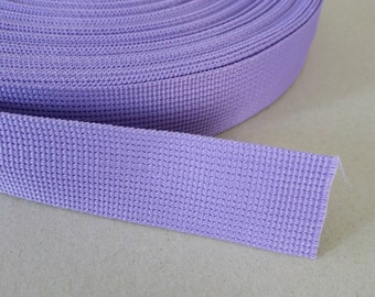 5 Yards, 1.25 inch (3.2 cm./32 mm.), Polypropylene Webbing, Lavender, Key Fobs, Bag Straps, Purses Straps, Belts, Tote Bag Handle.