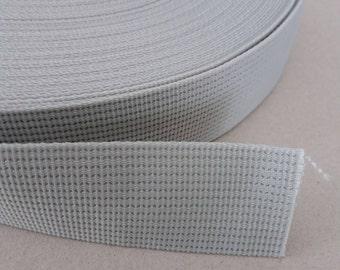 5 Yards, 1.25 inch (3.2 cm.), Polypropylene Webbing, Slate Gray, Key Fobs, Bag Straps, Purses Straps, Belts, Tote Bag Handle.