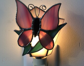 Stained Glass Butterfly Nightlight