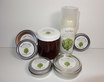 organic gift set new mom new baby diaper salve, cream, balm, for babies and moms