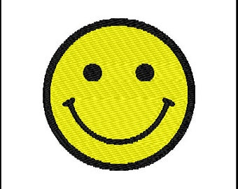 Happy Face Embroidery Design