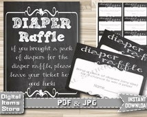 Printable Diaper Raffle Game Chalkboard - Diaper Raffle Card Chalk - Diaper Raffle Chalkboard - Diaper Raffle Sign - Instant Download - ch1
