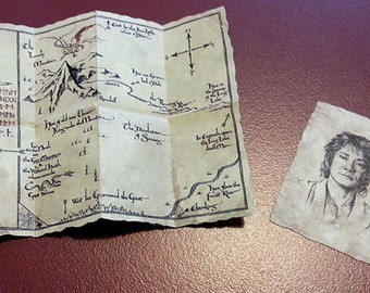 Thorin's map, Bilbo Baggins, the Hobbit, Draw 1/6 Action figure Diorama Accessories map portrait LOTR Custom