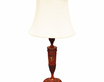 Neoclassical Style Painted Satinwood Lamp C 1900