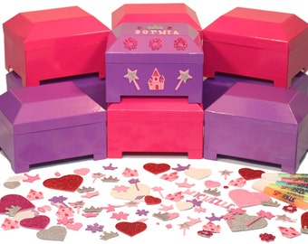 Princess Birthday Party Jewelry Box Craft Kit Activity and Party Favor