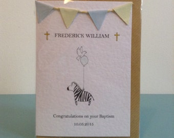 Personalised Baptism/christening card