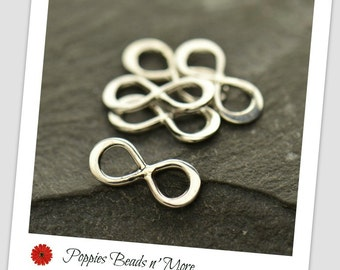 Teeny Tiny Sterling Silver Infinity Link