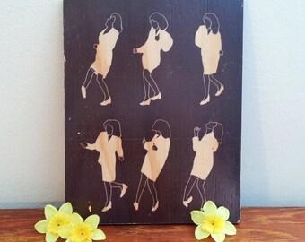 The Elaine Dance/Seinfeld - Handmade Wooden Sign