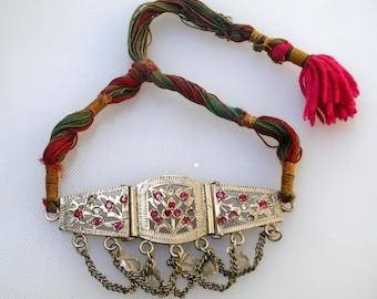 vintage antique tribal old silver armlet bracelet bajuband arm belly dance