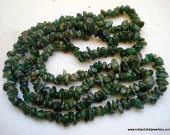 vintage jade gemstones beads chain necklace rajasthan india