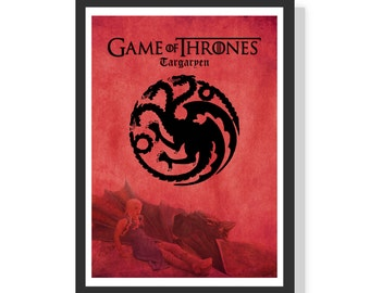 House of Targeryen - Game of Thrones - Premium A2 LARGE Poster Print